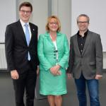 Kai Whittaker (MdB), Doris Oesterle, Vorsitzende der CDU-Frauen Union des Kreisverbands Rastatt, und Hauaton-Geschäftsführer Marcus Reuter (v.l.n.r.).