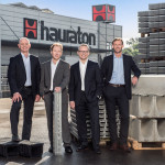 Die Hauraton Geschäftsleitung (v.l.n.r.: Dieter Bastian, Patrick Wieland, Marcus Reuter und Michael Schenk)